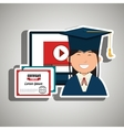 student and diploma isolated icon design vector image