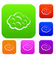 summer cloud set color collection vector image vector image