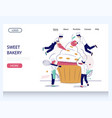 sweet bakery website landing page design vector image vector image