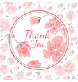 template greeting card with sakura flowers vector image vector image