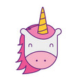 unicorn horned animal fantasy magic vector image vector image