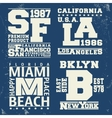 USA city vintage stamp vector image