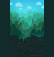 vertical with green hills vector image
