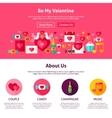 Website Design Be My Valentine vector image vector image