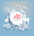 winter frame with deers vector image vector image