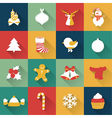 Set of Christmas and New Year objects vector image