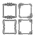 set of decorative black frames vector image