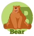 ABC Cartoon Bear vector image vector image