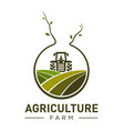 agriculture company logo design template vector image