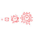 alarm-clock alarm ringing increasing volume vector image