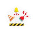 alert icon flat design vector image vector image