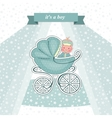 Baby shower card for a newborn vector image vector image