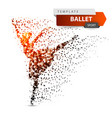 ballet dance girl - dot vector image