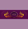 beautiful diwali banner with diya decoration vector image vector image