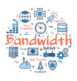 blue concept of bandwidth vector image vector image
