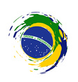 brazil flag design vector image vector image
