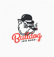 bulldog logo vector image