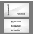 Business card with microphone