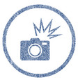 camera flash rounded fabric textured icon vector image