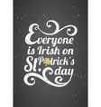 chalkboard style st patricks day greeting card vector image vector image