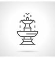 Classic fountain black line icon vector image vector image