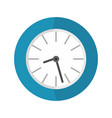 clock business icon flat style vector image vector image