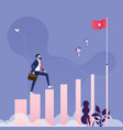 concept difficulty climbing in hierarchy career vector image vector image