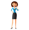 customer service call center woman operator vector image