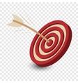 Dart in the target cartoon vector image vector image