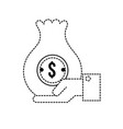 dotted shape businessman with bag cash money in vector image vector image