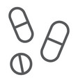 drugs line icon pharmacy and medicine pills sign vector image vector image