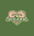emblem with rough texture for soccer team vector image