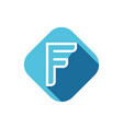 f letter logo vector image vector image
