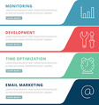 Flat design concept for marketing and management vector image
