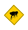 Flea warning sign vector image