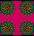 floral colorful pattern elegant flowers leaves vector image vector image