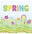 Floral nature pattern background spring vector image vector image