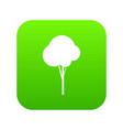 fluffy tree icon digital green vector image vector image