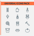 gardening icons set collection of dwarf floret vector image