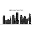germany frankfurt architecture city vector image