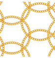 gold chain jewelry seamless pattern background vector image vector image
