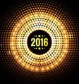 golden happy new year design background vector image vector image