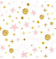 hand drawn seamless pattern decoreted gold balls vector image vector image