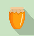 honey jar icon flat style vector image