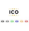 ico caption icon vector image vector image