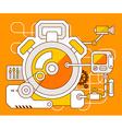 industrial of the mechanism of stopwatch vector image