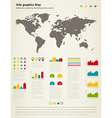 Info graphic map vector image vector image