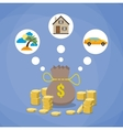 investment savings future planing concept vector image vector image