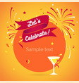 invitation background lets celebrate vector image vector image
