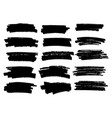 marker black lines highlighter brush lines vector image vector image